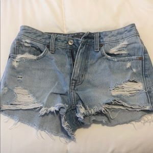 Abercrombie and Fitch low rise shorts